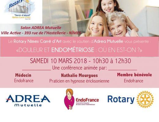 Conférence endométriose Nimes gala au profit endofrance